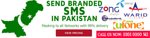 Branded SMS Prices Pakistan
